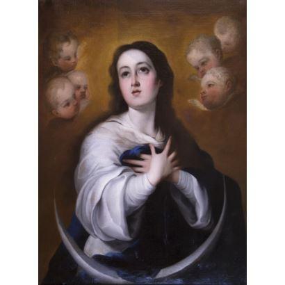 Pintura del siglo XIX. Siguiendo modelos de Murillo, S. XIX.
