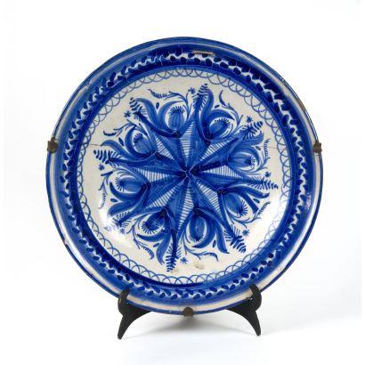 Cerámica. Plato en cerámica, S. XIX.