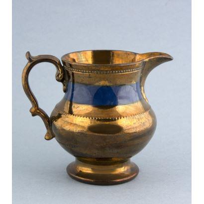 Cerámica. Jarra en cerámica Bristol, ffs. S. XIX.