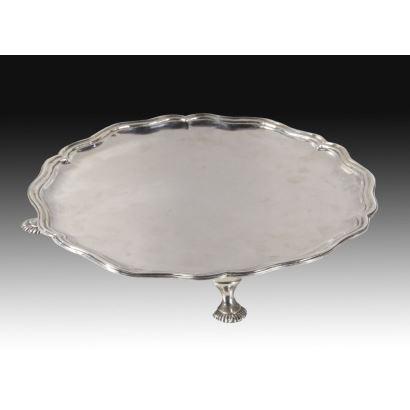 Salvilla en plata, S. XVIII.