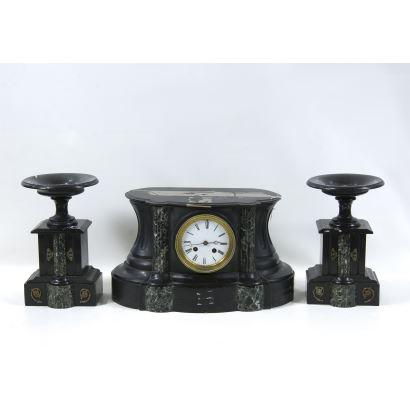 Reloj de sobremesa Napoleón III, S. XIX.