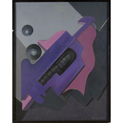 Pintura del siglo XX. AZUCENA CEÑAL FERNÁNDEZ (Gijón, 1936- Oviedo, 2018)