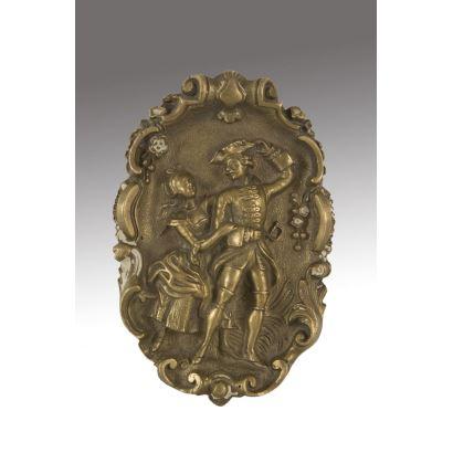 Bronces. Medallón, hacia 1900.