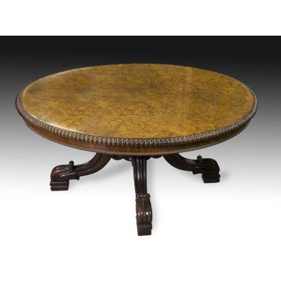 English-style circular table, 11th century
