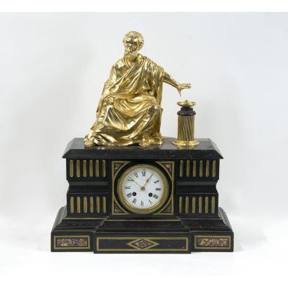 Table clock, France 19th century.