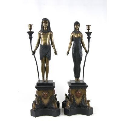 Pair of candlesticks, S. XX.