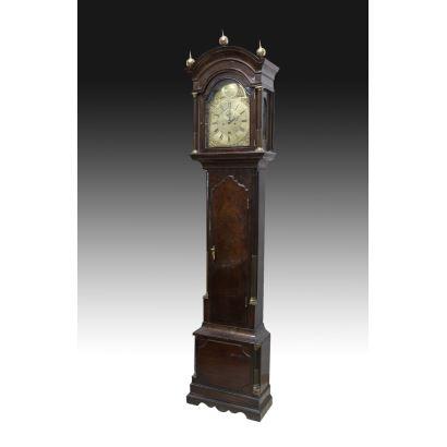 English tall case clock, 19th century.