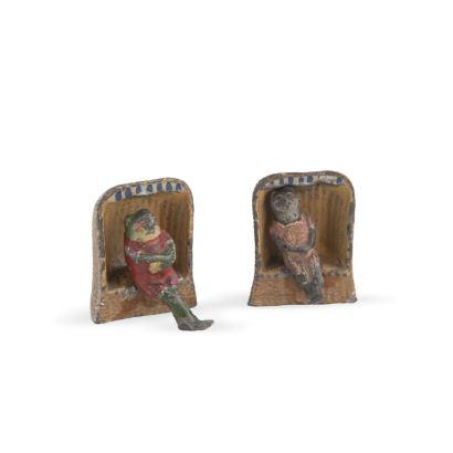 Pareja de figuritas de plomo, años 20.