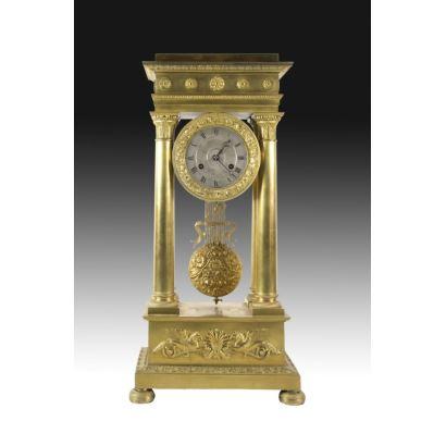 Table clock, France S. XIX.