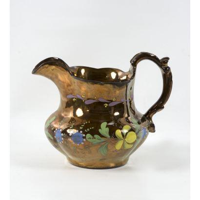Jarro en cerámica Bristol, S. XIX.