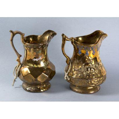Pareja de jarras en cerámica, fin. S. XIX.