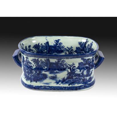 Jardinera en cerámica importada, ppios. siglo XX.