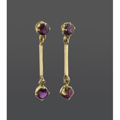Long earrings.