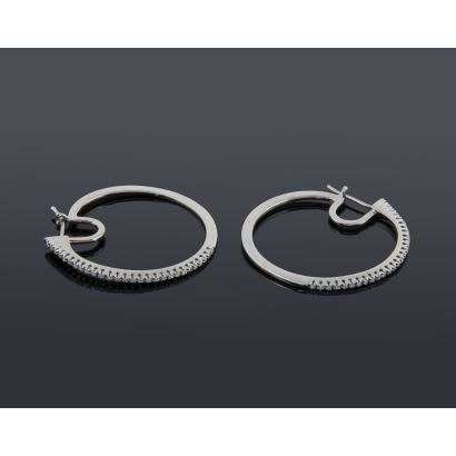 Creole earrings.