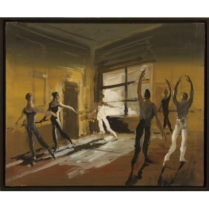LANCELOT, Monique (1923-1982). Óleo sobre lienzo.