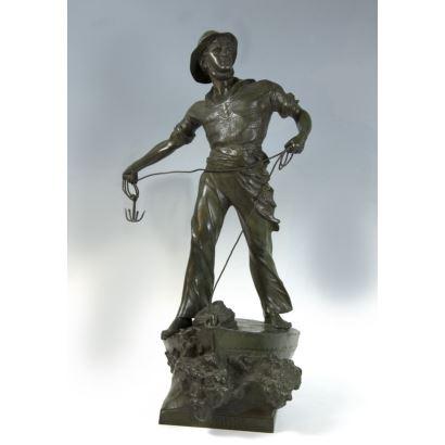 """Sculpture """"Secours"""", France, circa 1900."""