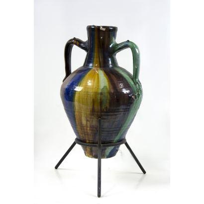 Ánfora en cerámica, S. XX.