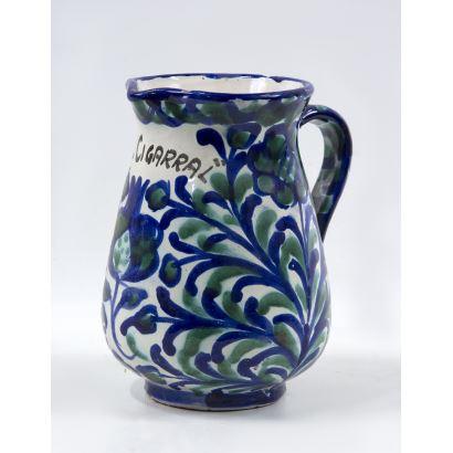 Jarro en cerámica, S. XX.
