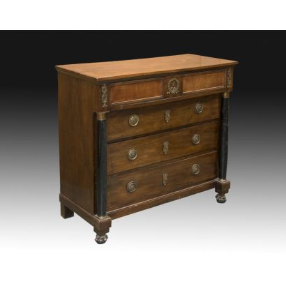 Chest of drawers, empire style, S. XIX.