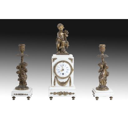 """Allegory of summer"" clock, France, 19th century."