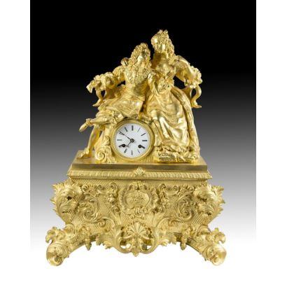 Table clock style Luis Felipe, S. XIX.