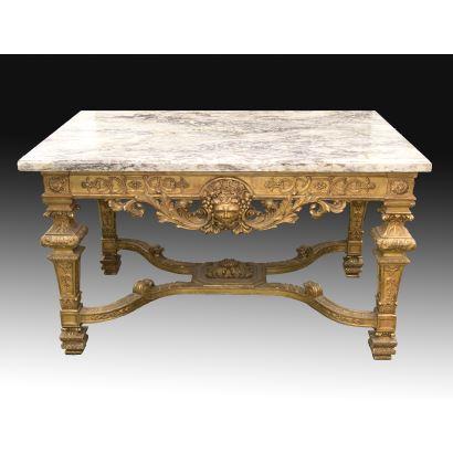 Mesa, estilo Luis XIV, S. XIX.