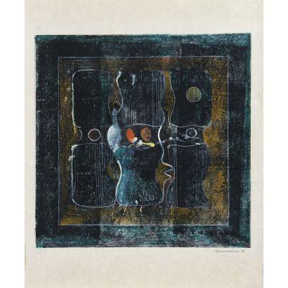 Obra Gráfica. JOSÉ LUIS MERINO DEL NERO (Santander, 1934-Monsheim, Alemania, 1999).