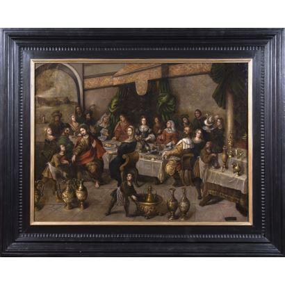 Pintura de Alta Época. GILLIAM FORCHONDT ( Amberes, 1608 - 1678)