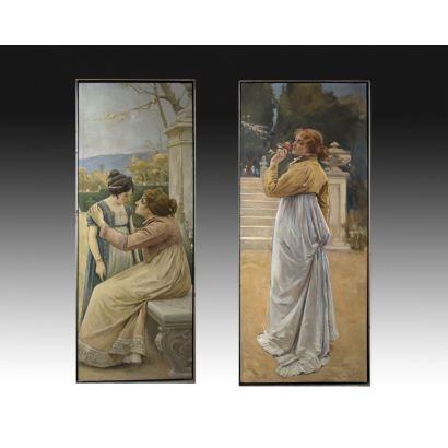 Pintura del siglo XIX. JOSÉ NIN Y TUDÓ (El Vendrell, 1840 - Madrid, 1908)