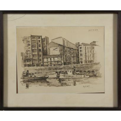 Dibujo. Luis García Campos (Bilbao, 1928-2011).