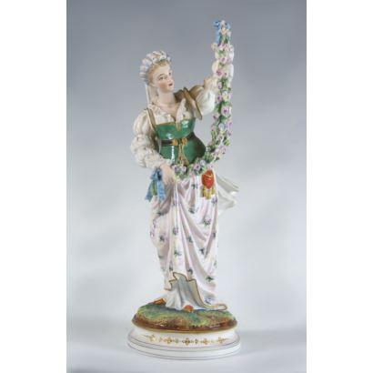 Figura en porcelana alemana, circa 1900.