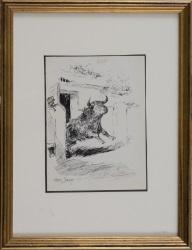 DOMINGO FALLOLA, Roberto. Dibujo a tinta sobre papel.