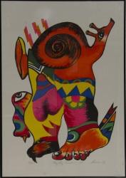 HERNÁNDEZ, Mariano (1928). Litografía firmada, fechada en 1979 y numerada a lápiz 24/125.