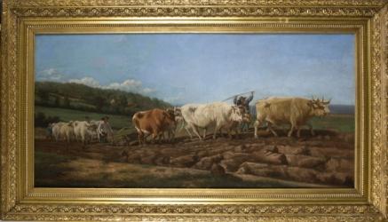 MOTA Y MORALES, Vicente. Óleo sobre lienzo.
