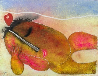 GARCÍA RIPOLLÉS, Juan (Alzira, Valencia, 1932). Óleo sobre lienzo.