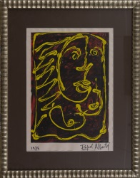 """""""Mujer"""", Rafael Alberti. Se trata de un óleo sobre papel, que aparece firmado por el propio autor en el ángulo inferior derecho. Está enmarcado. Medidas con marco: 87 x 69,5 cm. Medidas sin marco: 54 x 39 cm."""