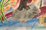 Pintura del siglo XX. PABLO MÁRQUEZ (1957). Técnica mixta sobre papel. Sin título. Medidas: 78x58cm.