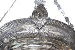 Plata. Lámpara votiva, siglo XVIII. Plata. Peso 7,5 kgs.