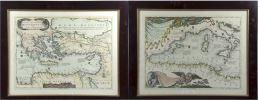 Obra Gráfica. Pareja de grabados, siglo XIX.