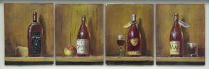 Pintura del siglo XX. Conjunto de cuatro tablas, S. XX.