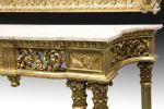Muebles. Consola y espejo estilo Luis XVI, ppios. S. XX.